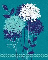 Blaue Allium-Vektor-Grafikplatzierung vektor