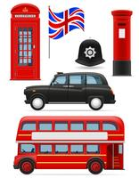 London Set Icons Vektor-Illustration
