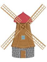 Windmühle-Vektor-Illustration vektor
