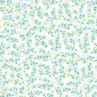 blaues grünes Blattmuster
