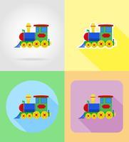 baby leksaker och tillbehör platt ikoner vektor illustration
