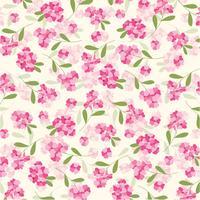 rosa blommönster