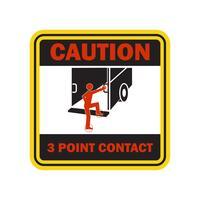 varning varning för att hantera ditt gaffeltruck fordon i din bransch, tecken symbol