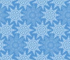 Snö sömlösa mönster, vinterlov snöflingor bakgrund.