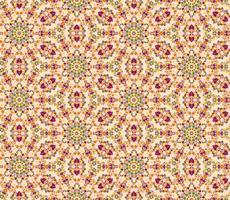 Abstrakt orientaliskt blommigt sömlöst mönster. Blomma mosaik prydnad vektor