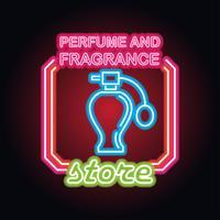 Parfüm für Männer und Frauen mit Neonzeicheneffekt vektor