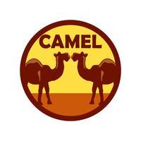 kamel logo isolerad på vit bakgrund vektor