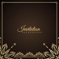 Abstrakter stilvoller Einladungshintergrund vektor