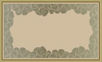 Rahmen in Gekritzelart. Retro Rand Hintergrund vektor
