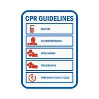 CPR-Herz-Lungen-Wiederbelebungszeichen und Symbol