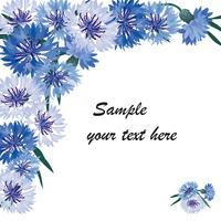 Blumenstrauß. Blumenrahmen Blühen grußkarte. Blühende Blumen getrennt auf weißem Hintergrund