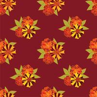 Abstrakt blommigt sömlöst mönster. Sommarblomma bakgrund.