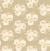 Abstrakt blommigt sömlöst mönster. Blommans dekorativa bakgrund.
