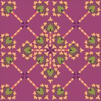 Abstrakt blommig sömlös textur. Snyggt orientaliskt blommönster vektor