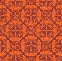 Blommigt geometriskt mönster. retro orientalisk blomning prydnad.
