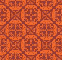 Geometrisches Blumenmuster Retro orientalisches Schnörkelverzierung.