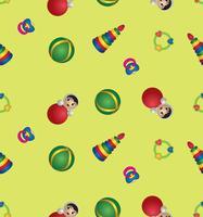 leksak sömlöst mönster. baby mönster. abstrakt baby leksak bakgrund.