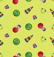 Spielzeug nahtlose Muster. Baby-Muster abstrakter Babyspielzeughintergrund. vektor