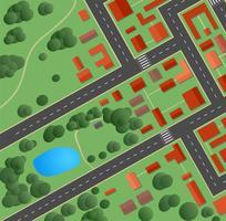gator och hus vektor