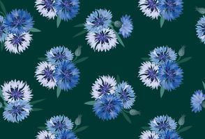 Abstrakt blommigt sömlöst mönster. Sommarblomma bakgrund vektor