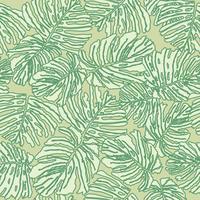 Tropkalen lämnar sömlöst mönster. Vacker blommig blad bakgrund.