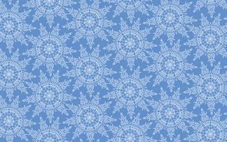 Nahtloses Muster der Schneeflocken, Schneehintergrund. vektor