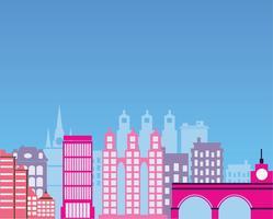 City silhuett vektor