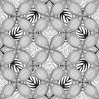 Blommigt sömlöst mönster. Linjär prydnad. Abstrakt bakgrund