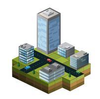 Isometriska byggnader vektor