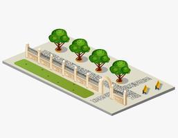 städtischer Garten vektor