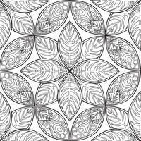 Nahtlose Blümchenmuster Lineare Verzierung Abstrakter Hintergrund