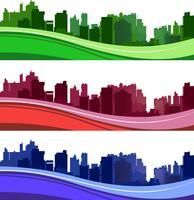 City silhuetter vektor