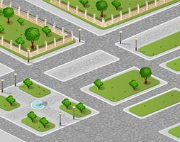 Vektor des städtischen Gartens