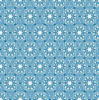 Schneeflockenfliesenmuster Winterurlaubverzierung Geometrische Beschaffenheit vektor