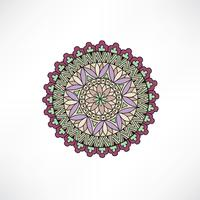 Oriental blom dekorativa element. Geometrisk prydnad.