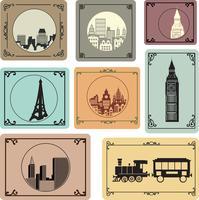 Städte im Retro-Stil