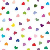 Kärlek hjärta bakgrund. Romantisk semester sömlös mönster