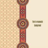 Orientalisches nahtloses Blumenmuster. Geometrischer dekorativer Hintergrund.