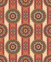Orientalisches nahtloses Blumenmuster. Geometrischer dekorativer Hintergrund. vektor