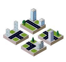 Stadt des Vektors 3D