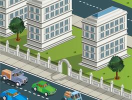 Isometrische Stadt vektor