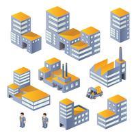 Gebäude in der isometrischen