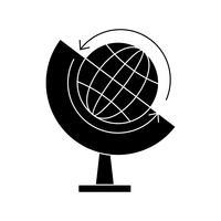Globus Glyphe Schwarze Ikone