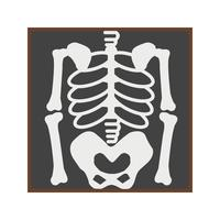 Skeleton Flat-Symbol vektor