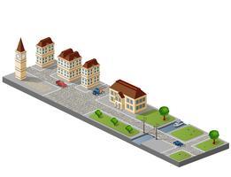 Stadt isometrisch vektor
