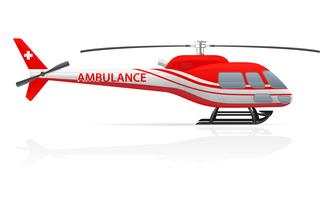 Krankenwagen Hubschrauber-Vektor-Illustration vektor