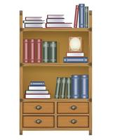 Vektor Bücherregal