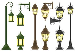 Straßenbeleuchtung Vektor-Illustration gesetzt
