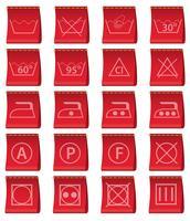 etiketter för kläder med ledning av tvätt vektor illustration