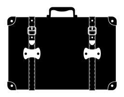 Weinleseikonenvorrat-Vektorillustration des Koffers alte
